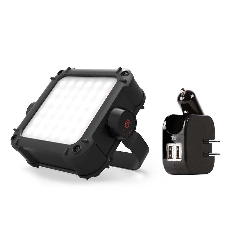 ARC light power station in black with car and wall usb charger