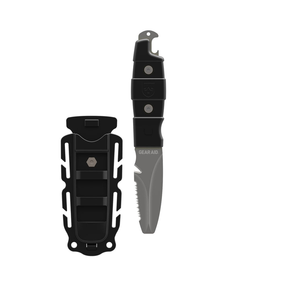 black akua rescue and dive knife with acetal polymer handle and sheath