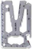 Front view of Lever Gear Toolcard Pro with Executive Polish finish and without clip