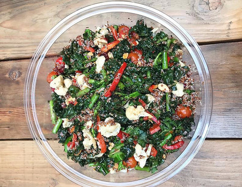 Marinated Kale Salad with Quinoa