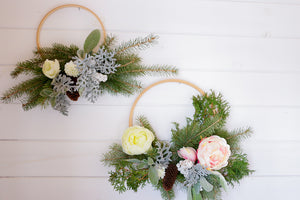 Winter Hoop Wreath Workshop- December 16