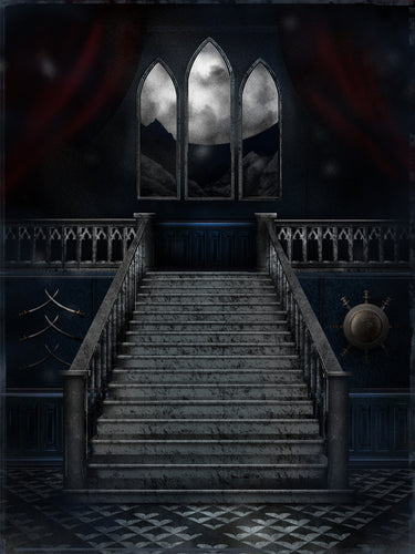 Gothic Vampire Palace Background
