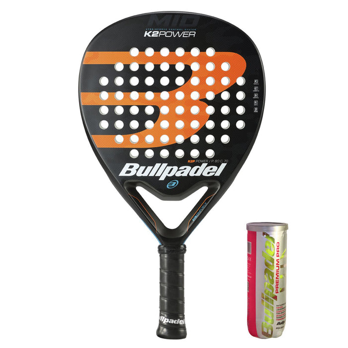 Bullpadel K2 Power 2020 + Premium Pro Padelboll