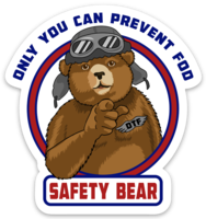 Safety Bear Sticker