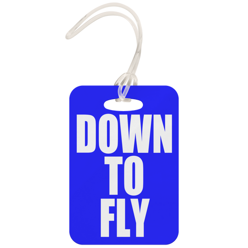 Down To Fly Luggage Tag (Blue)