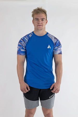Casual Camo T-Shirt - Ocean Blue - AUDIN