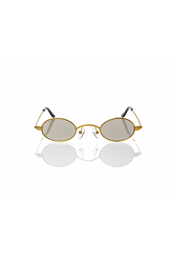 Gold Doris - Small Round Sunglasses