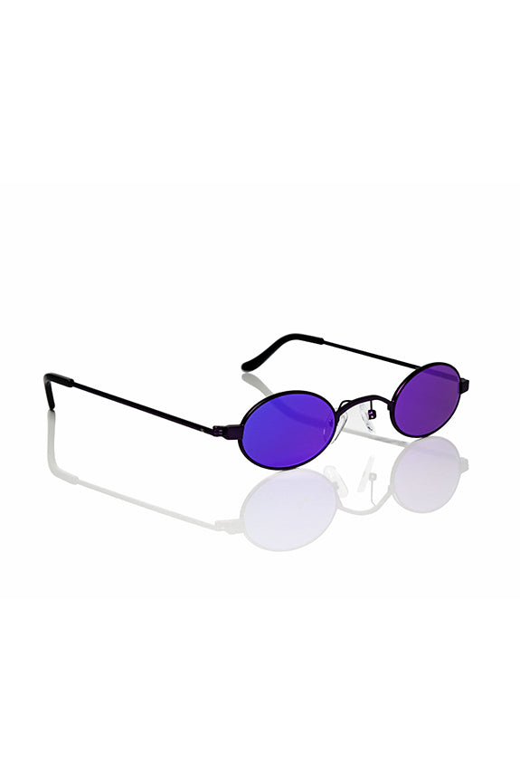 Purple Doris - Small Round Sunglasses