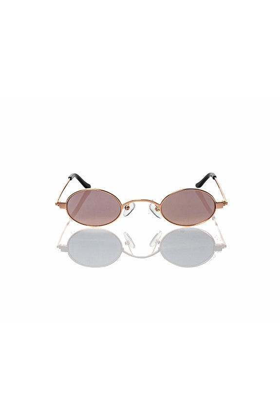 Rose Gold Doris - Small Round Sunglasses