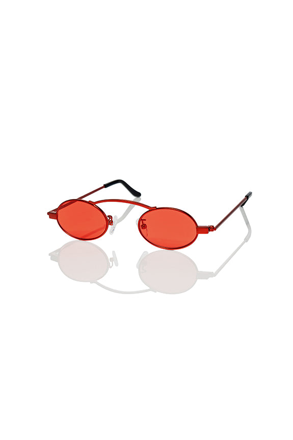 Red Doris 2.0 - Small Round Sunglasses
