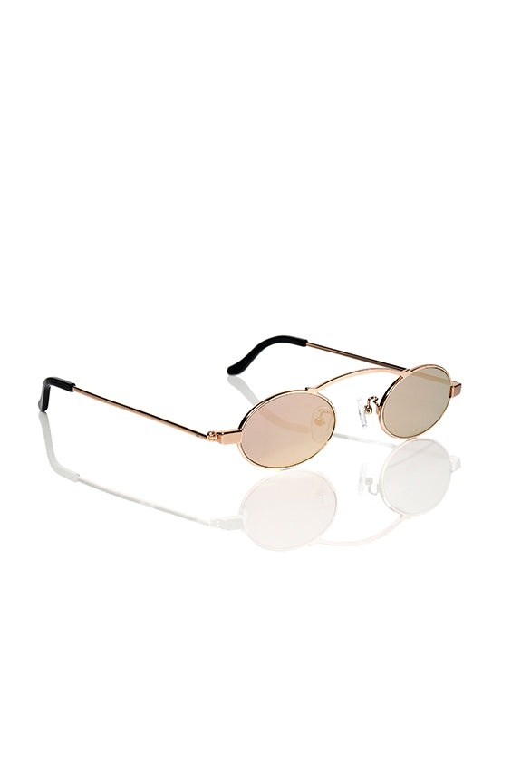 Rose Gold Doris 2.0 - Small Round Sunglasses