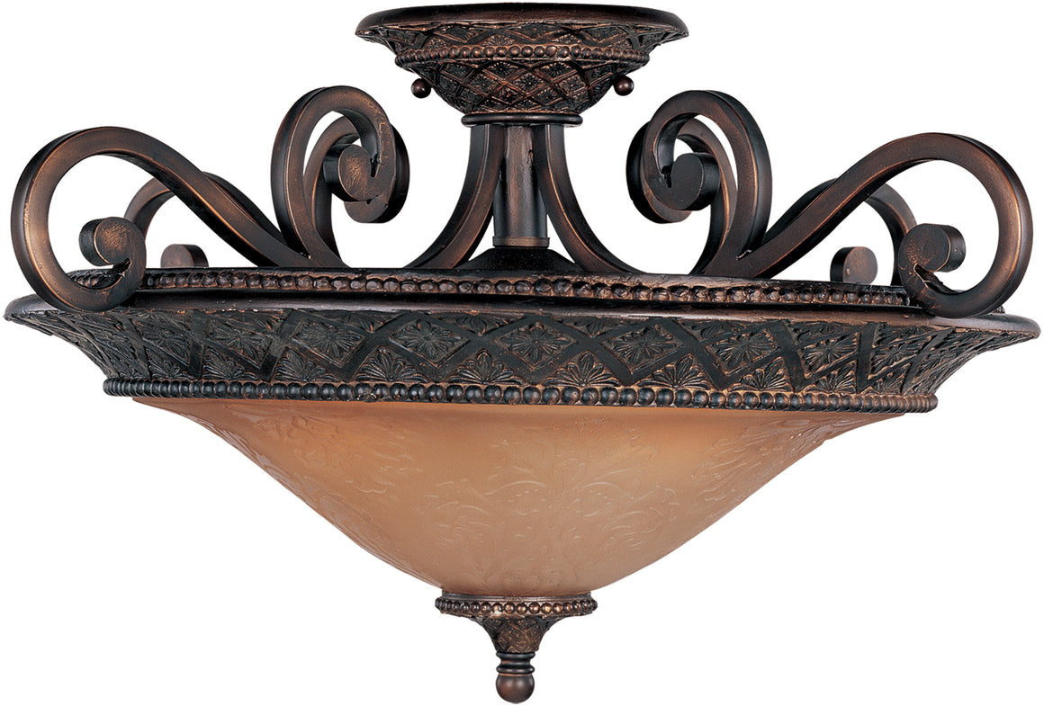 Symphony 3-Light Semi-Flush Mount