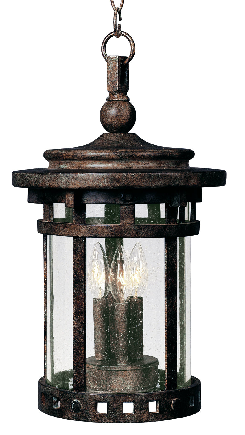 Santa Barbara Cast 3-Light Outdoor Hanging Lantern