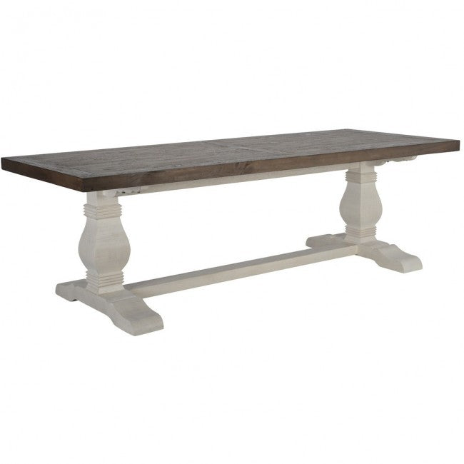 "Caleb Dining Table 94"" Two Tone EV"
