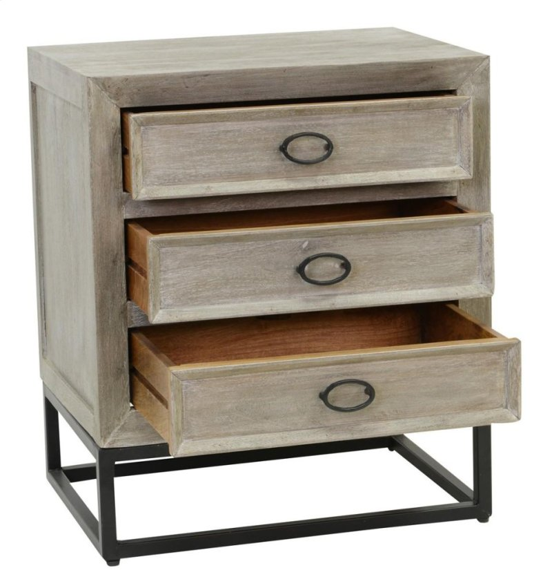 Artemis 3 Drawer Nightstand