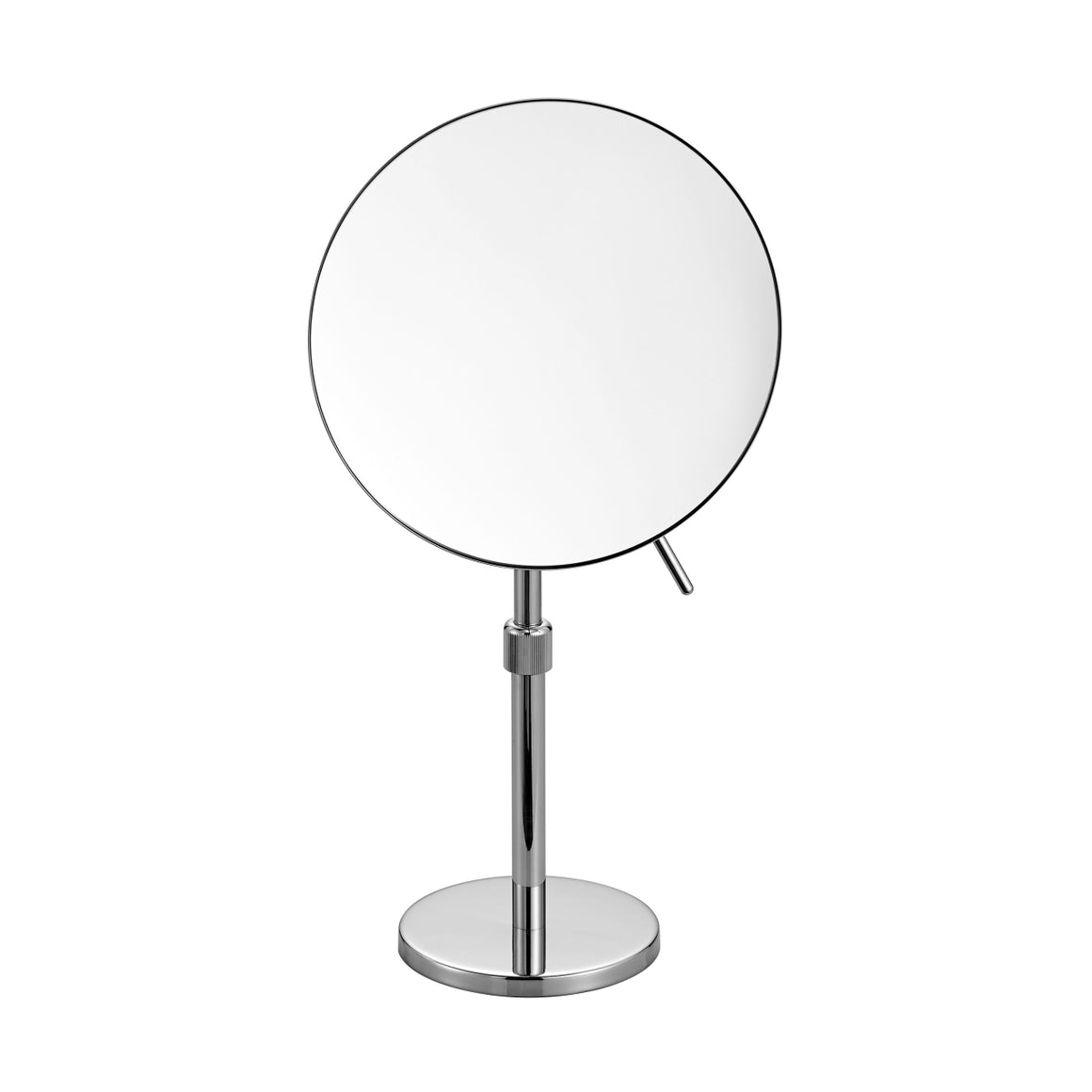 Aqua Rondo by KubeBath Magnifying Mirror With Adjustable Height