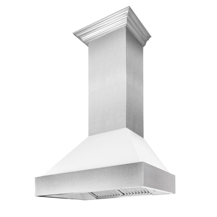 "30"" SNOW FINISH RANGE HOOD WITH WHITE MATTE SHELL (8654WM-30)"