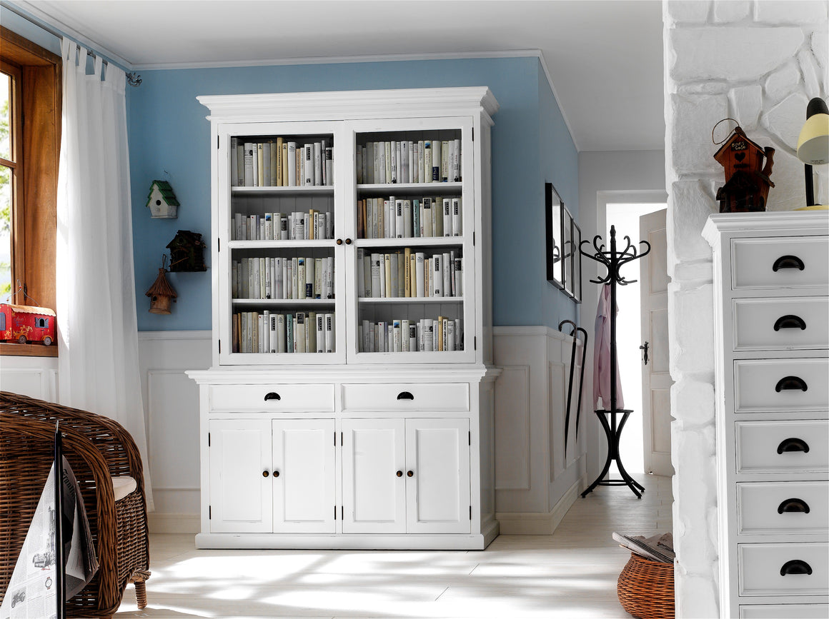 Halifax BCA594 Glass-Display Hutch Unit