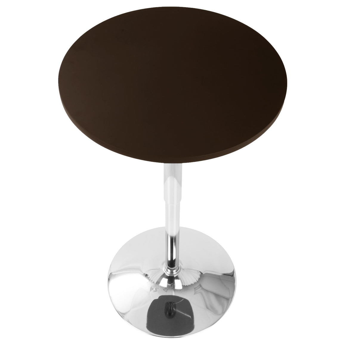 Adjustable Contemporary Bar Table in Brown by LumiSource