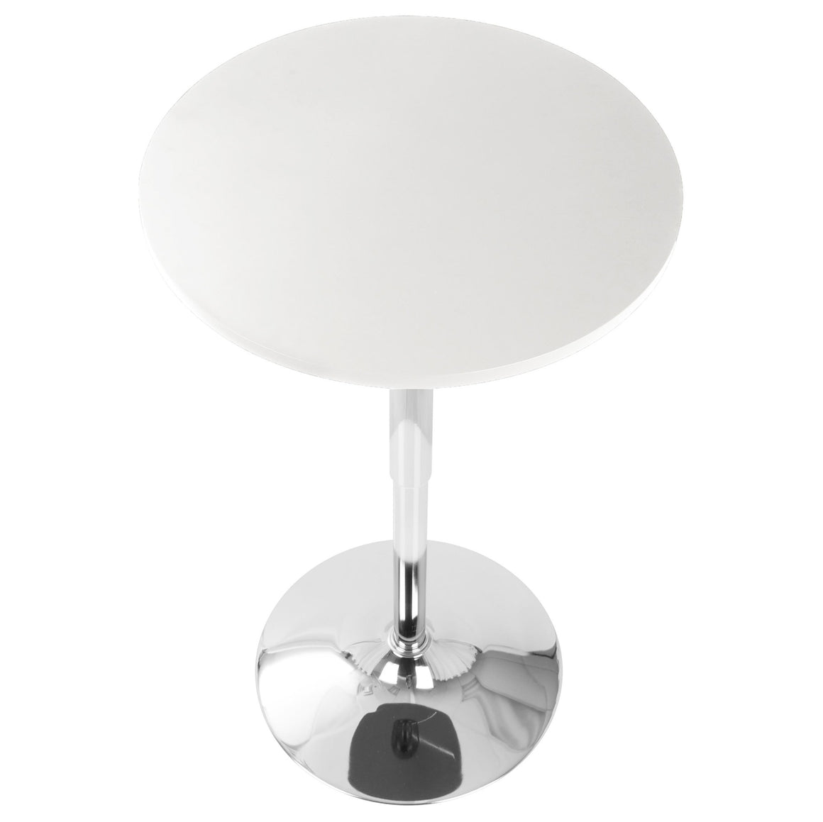 Adjustable Contemporary Bar Table in White by LumiSource