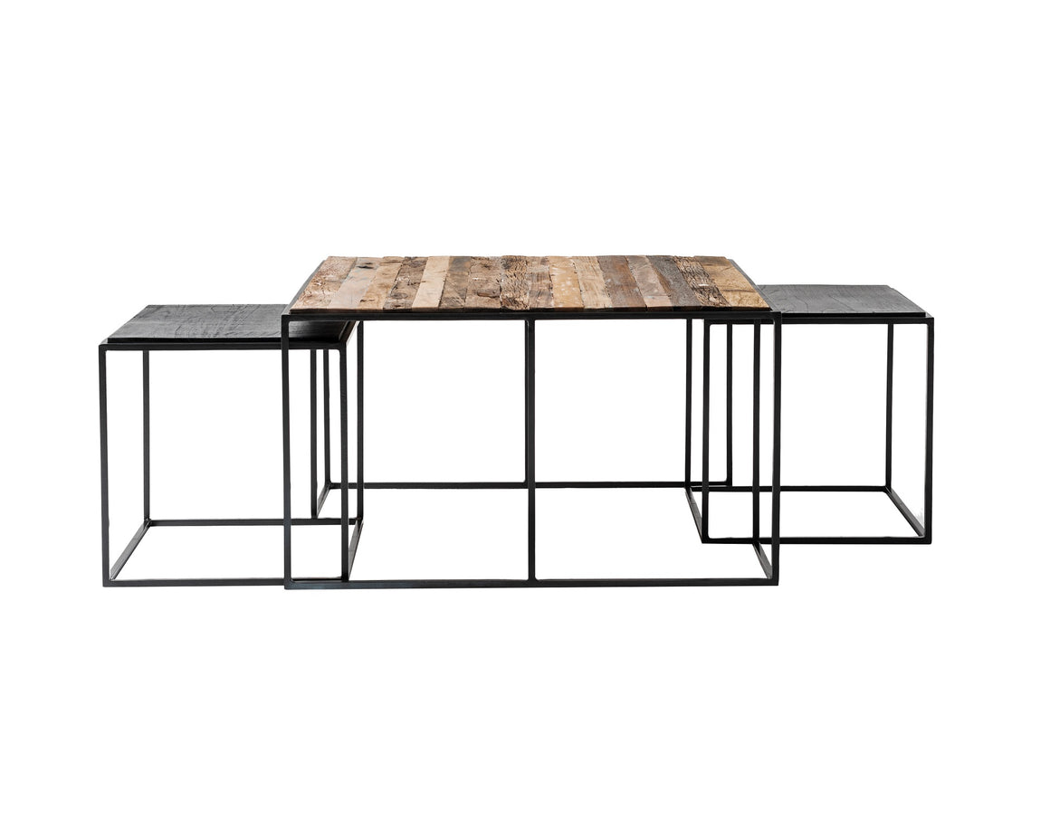 Rustika Nesting Coffee Table Set 80cm