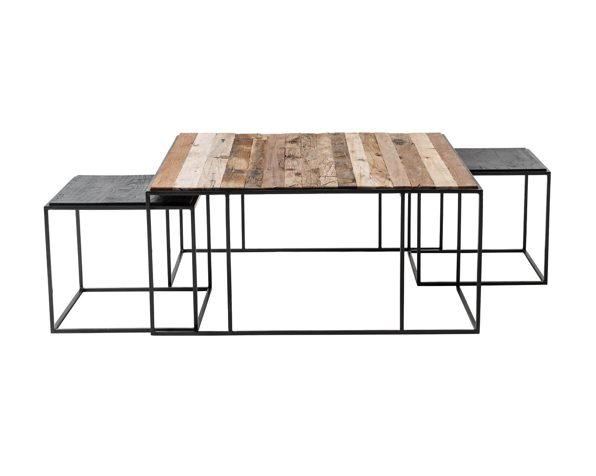 Rustika Nesting Coffee Table Set 100cm