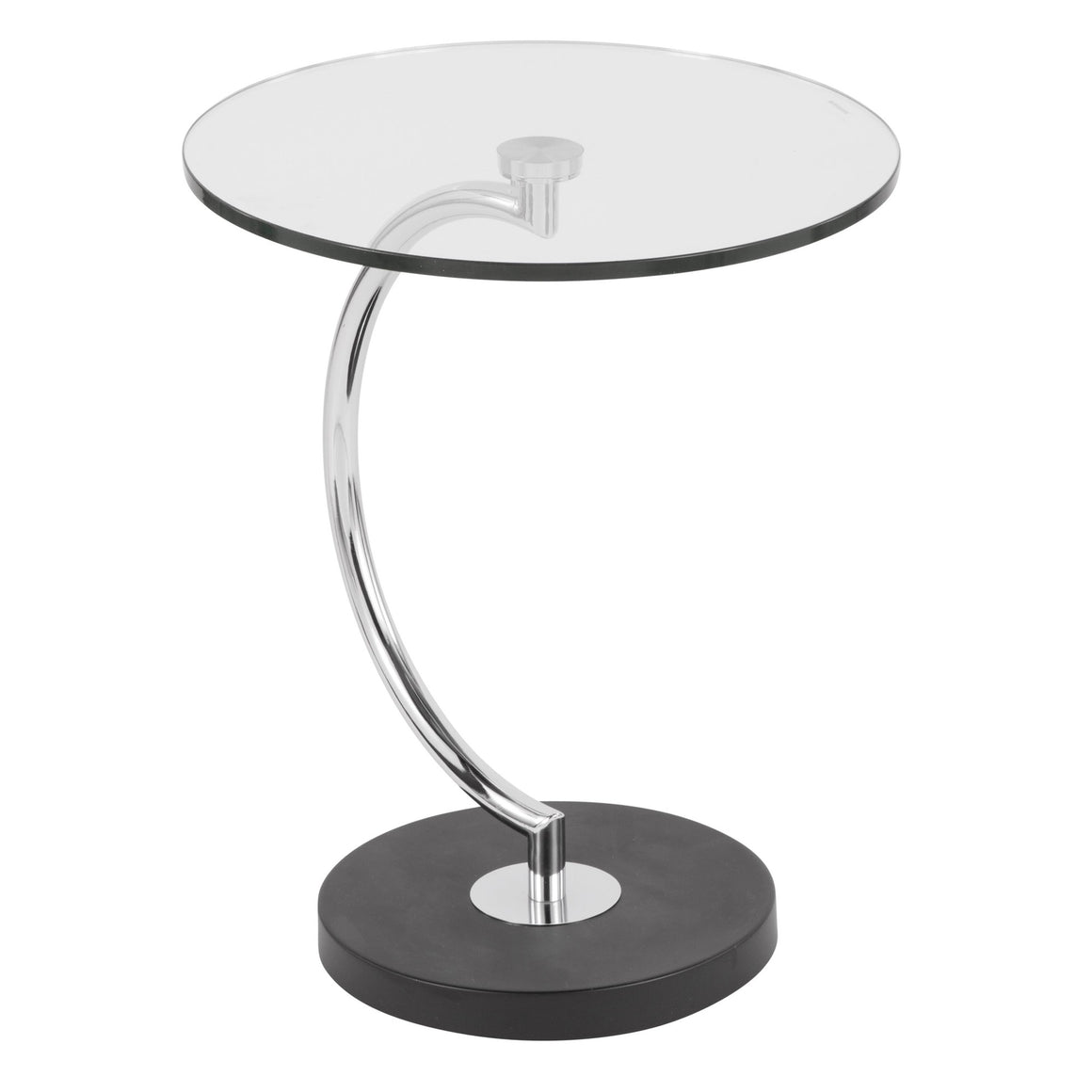 C End Contemporary Table in Glass by LumiSource