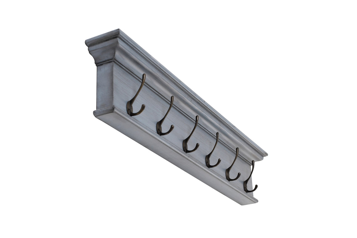 Halifax D162I 6-Hook Coat Rack in Blue Black Finish