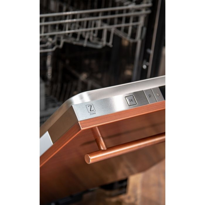 24 in. Top Control Dishwasher in Copper with Stainless Steel Tub and Modern Style Handle