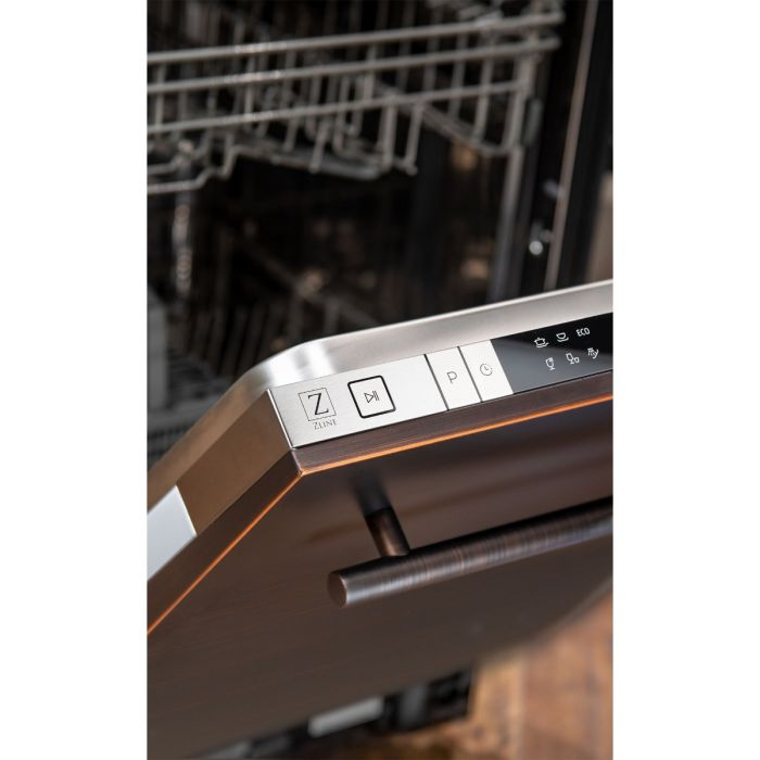 18 in. Top Control Dishwasher in Oil-Rubbed Bronze with Stainless Steel Tub and Modern Style Handle