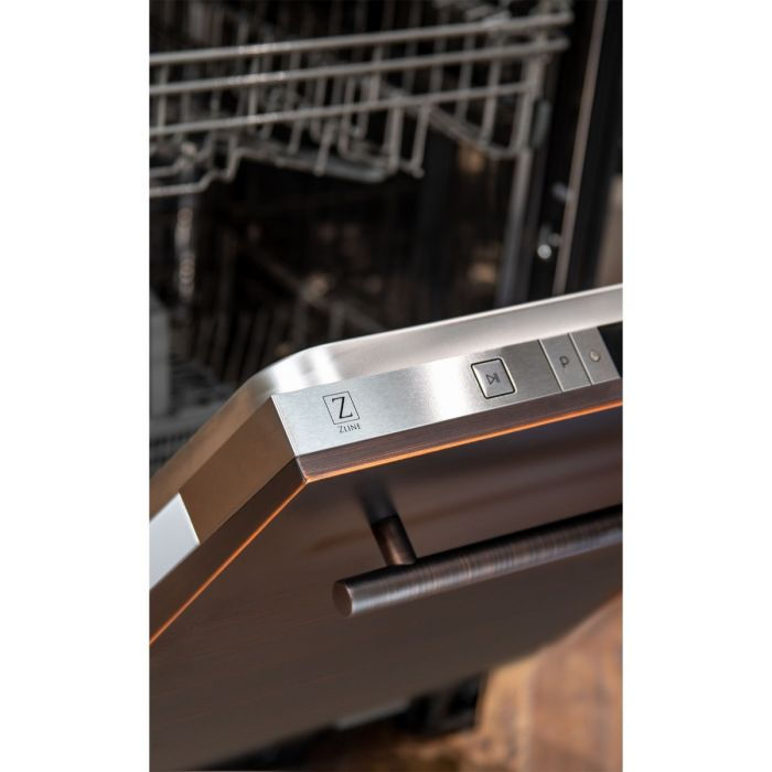 24 in. Top Control Dishwasher in Oil-Rubbed Bronze with Stainless Steel Tub and Modern Style Handle