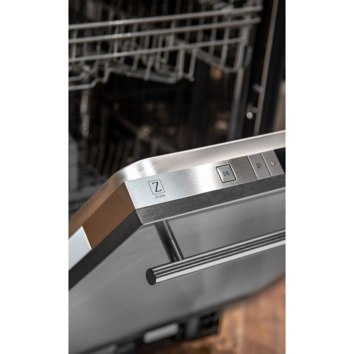 24 in. Top Control Dishwasher in Snow Finished Stainless Steel with Stainless Steel Tub and Modern Style Handle