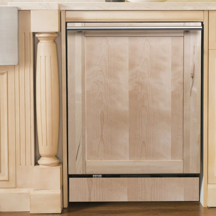 18 IN. TOP CONTROL DISHWASHER IN UNFINISHED WOOD WITH STAINLESS STEEL TUB AND MODERN STYLE HANDLE