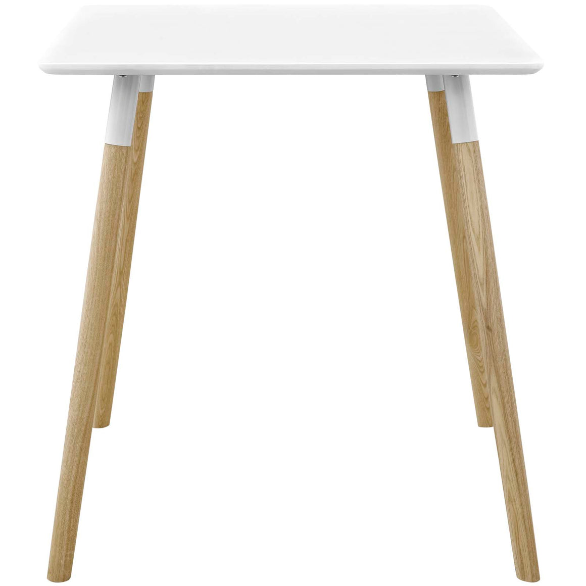 "CONTINUUM 28"" SQUARE DINING TABLE IN WHITE"