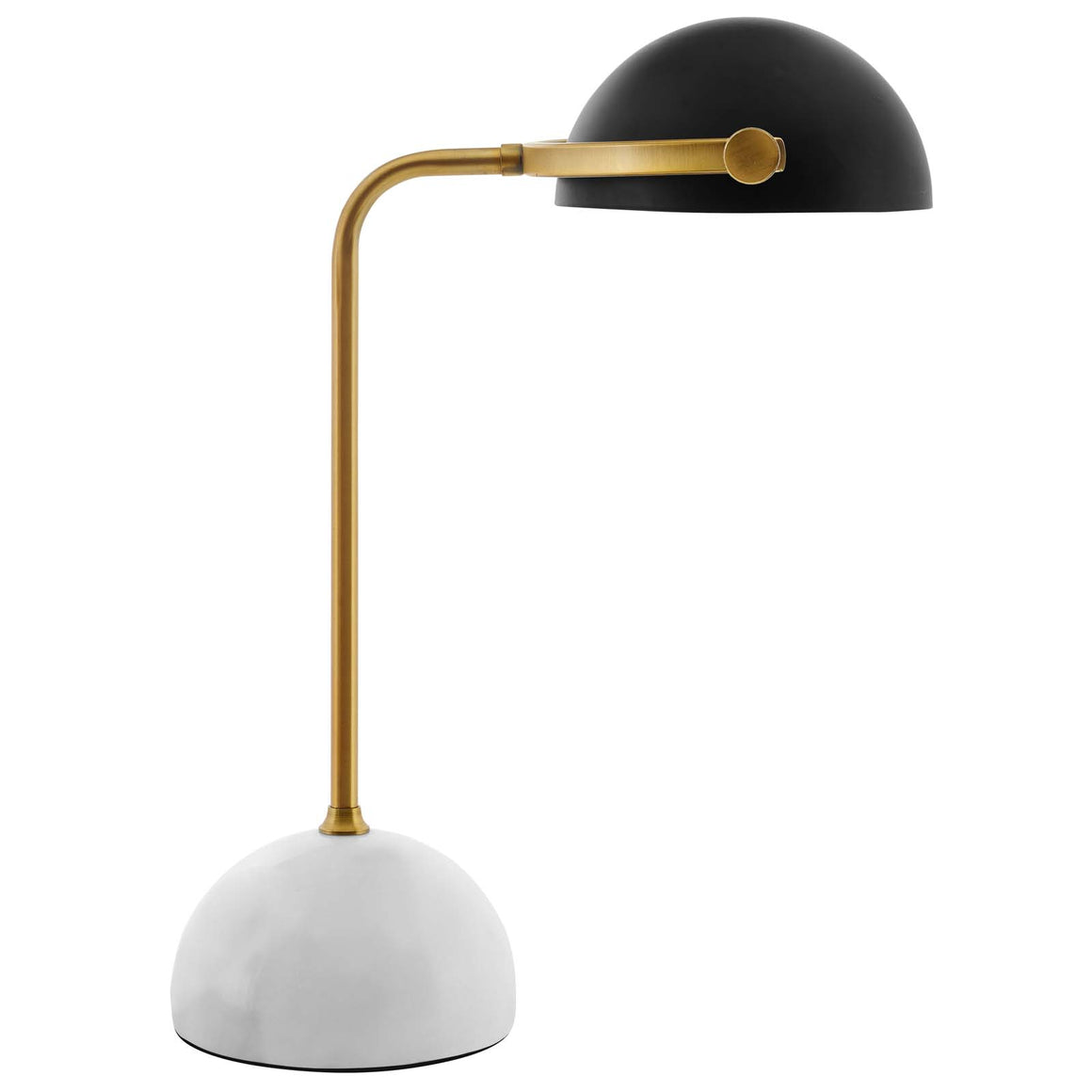 CONVEY BRONZE AND WHITE MARBLE TABLE LAMP