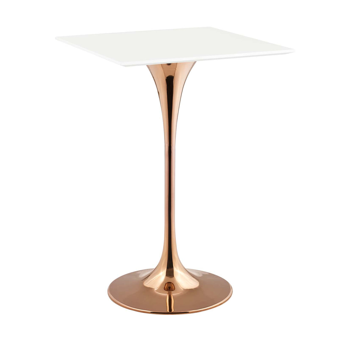 "LIPPA 28"" SQUARE BAR TABLE IN ROSE WHITE"