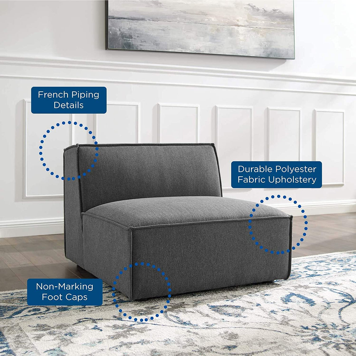 Restore Sectional Sofa Armless Chair