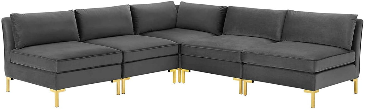 Ardent 5-Piece Performance Velvet Sectional Sofa