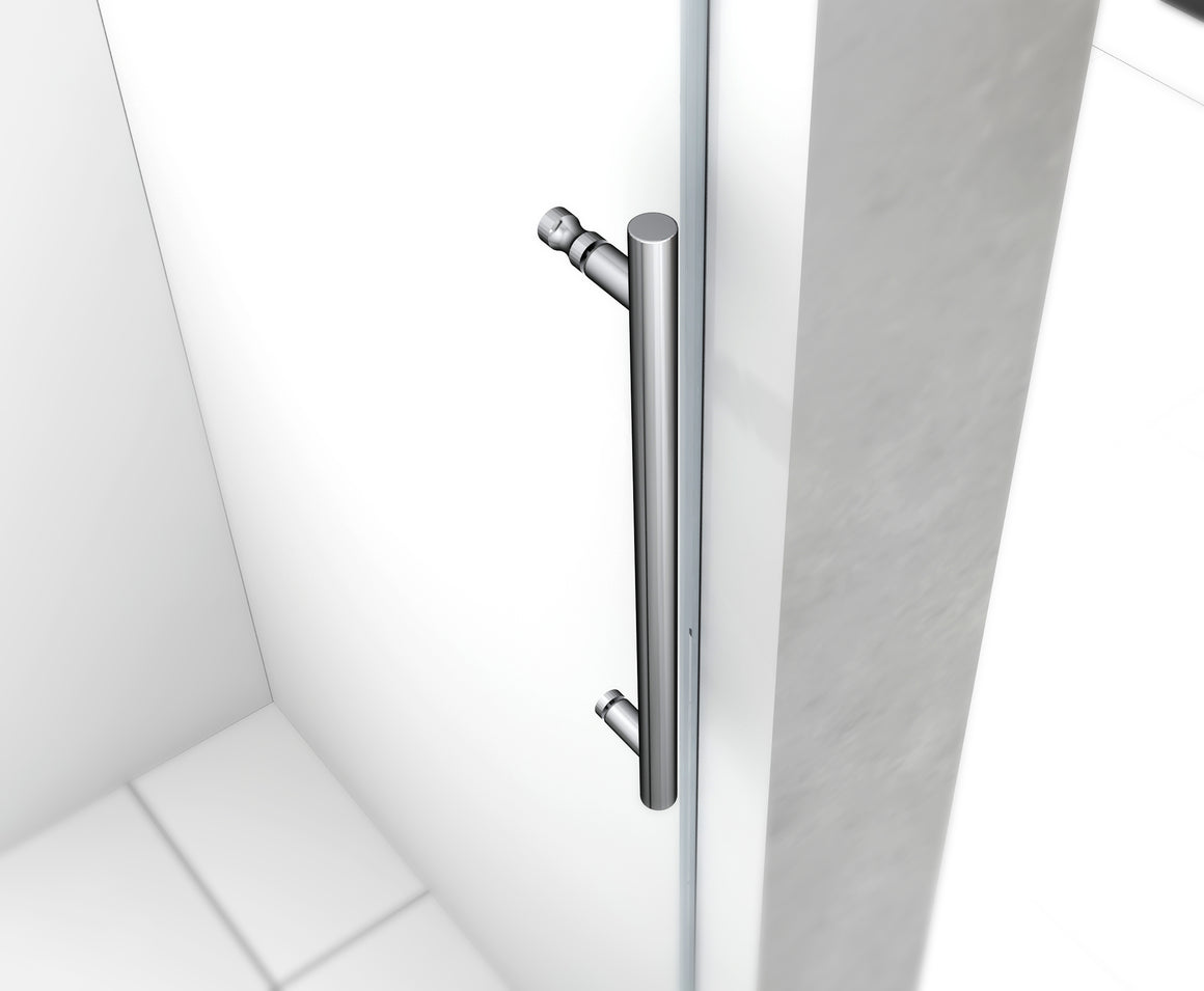 65 x 75 in. Frameless Sliding Shower Door with Chrome Hardware