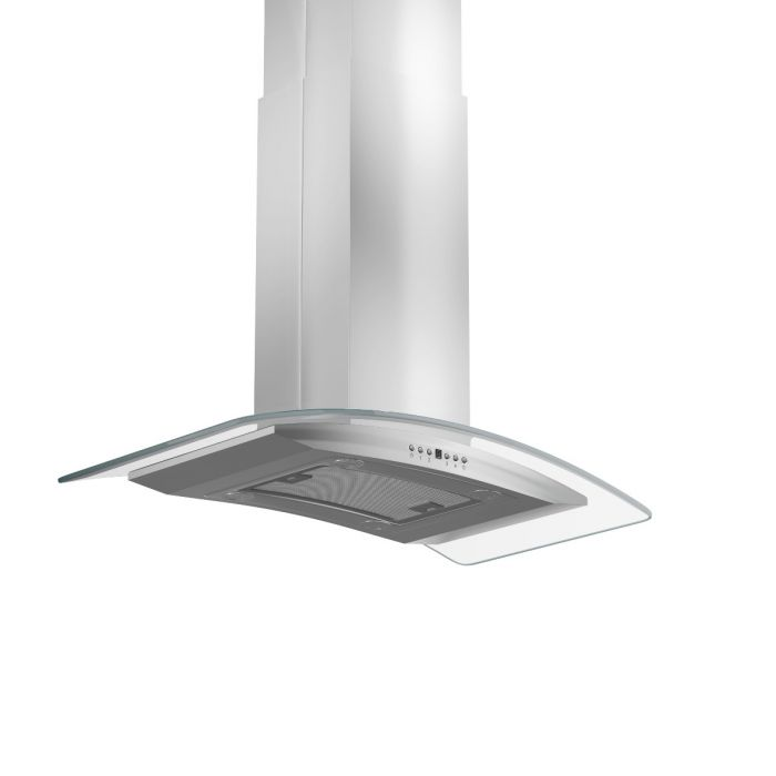 ZLINE 30 in. 760 CFM Island Mount Range Hood in Stainless Steel & Glass (GL14i-30)