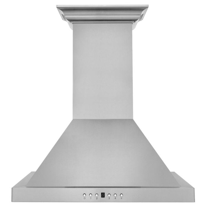 ZLINE 24 IN. WALL MOUNT RANGE HOOD IN STAINLESS STEEL WITH BUILT-IN CROWNSOUND® BLUETOOTH SPEAKERS (KBCRN-BT-24)