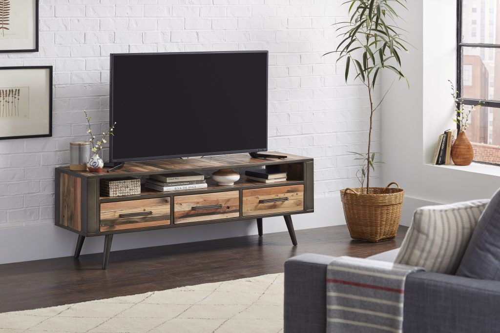 Nordic TV Dresser with 3 Drawers
