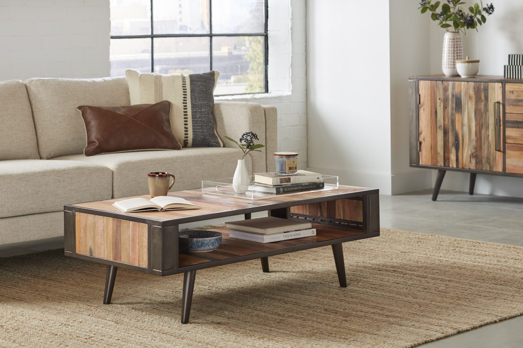 Nordic Coffee Table with Open Shelf