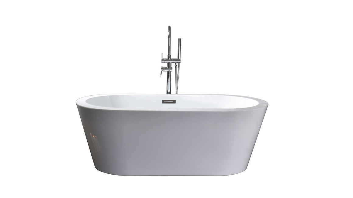 Lure 59 inch Freestanding Bathtub with Chrome Drain