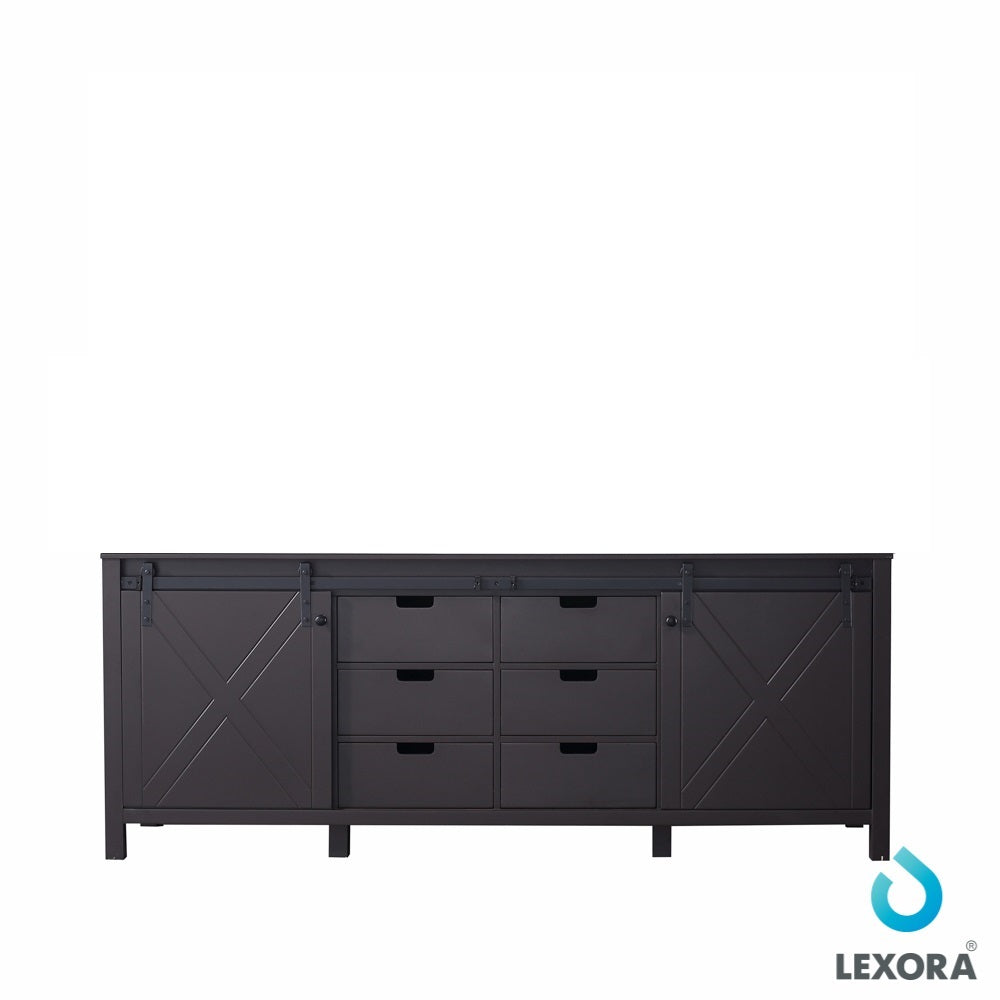 "Marsyas 84"" Vanity Cabinet Only in Brown"