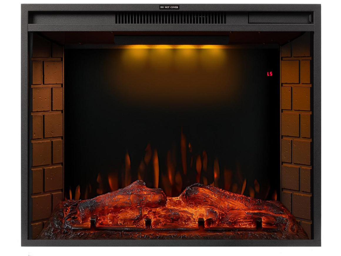 TREXM 28 inch LED Recessed Electric Fireplace with 3 Top Light Colors