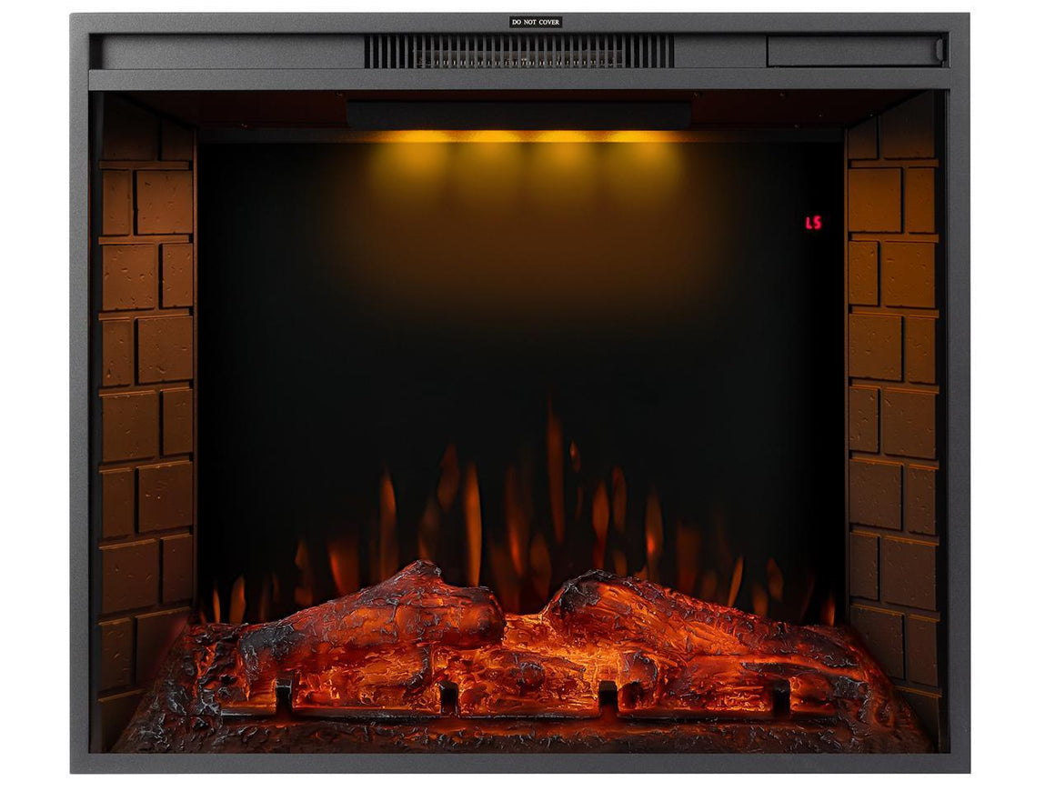 TREXM 33 inch LED Recessed Electric Fireplace with 3 Top Light Colors
