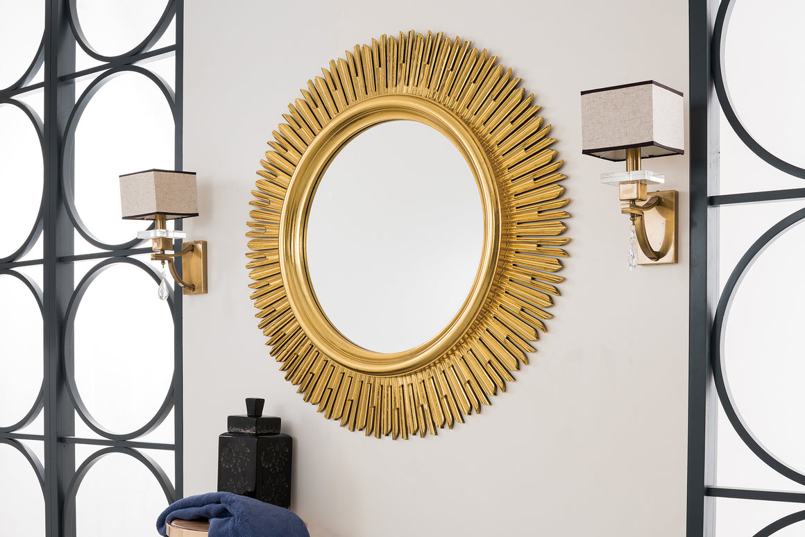"Sunburst 42"" Mirror, Antique Gold"