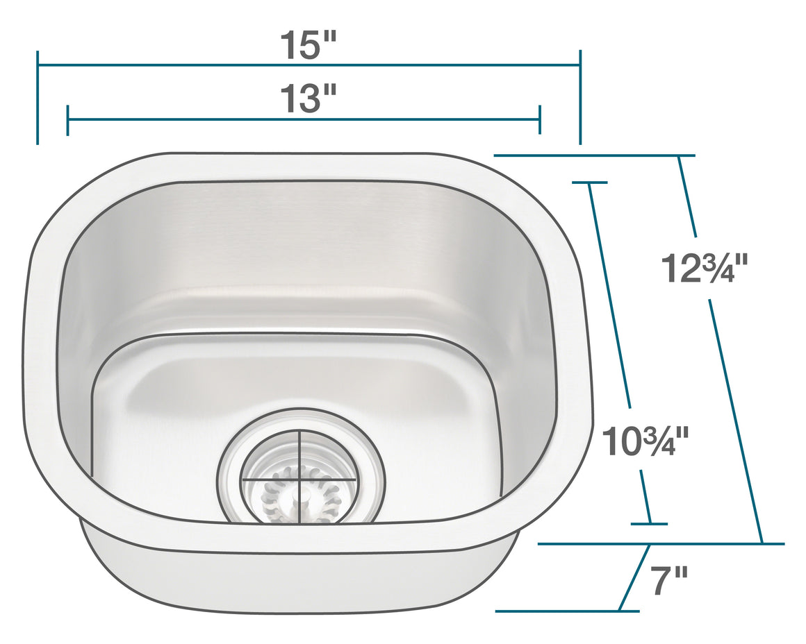 P2151-16 Stainless Steel Bar Sink