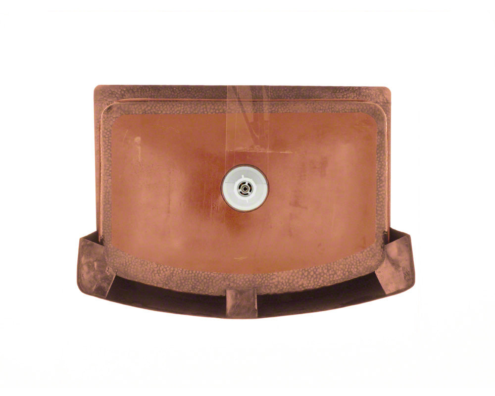 P419 Single Bowl Copper Apron Sink